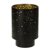 Lantaarn Yves Metaal Zwart/Goud, 20,5cm