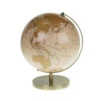 Wereldbol op Voet Creme, 32cm