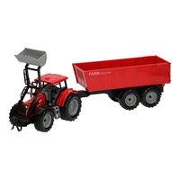 Tractor met Voorlader en Aanhanger 1:32