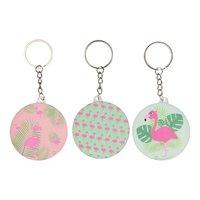 Sleutelhanger Flamingo met Spiegeltje