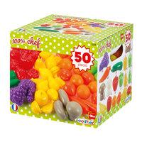 Ecoiffier 100% Chef Groenten- en Fruitbox, 50dlg.