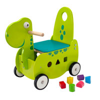 I'm Toy Loop- en Duwwagen Dino