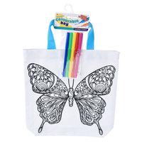 Kleur je eigen Tas - Vlinder / Paard