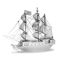 Metal Earth Pirate Ship Black Pearl Zilver Editie