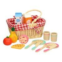 Houten Picknickset in Draagmand