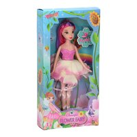 Pop Bloemenmeisje - Wit/Roze, 24cm