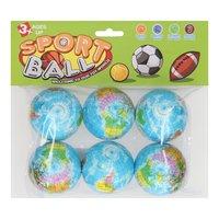 Foamballen Wereldbol, 6st.