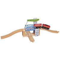 Houten Rails - Ophaalbrug, 3dlg.