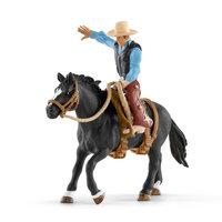 Schleich Western Cowboy in het Zadel