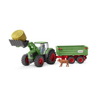 Schleich Tractor met Aanhangwagen