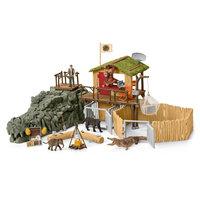 Schleich Croco Jungle Onderzoeksbasiskamp
