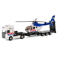 Polesie Die-cast Vrachtwagen met Helikopter - Politie