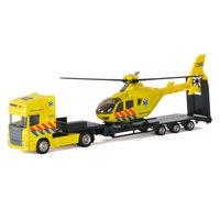 Polesie Die-cast Vrachtwagen met Helikopter - Ambulance