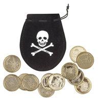 Geldbuidel Piraat + 12 Munten
