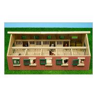 Kids Globe Paardenstal Hout Met 9 Paardenboxen 1:32