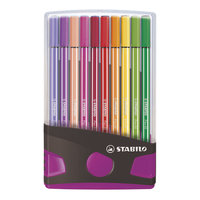 STABILO Pen 68 Colorparade Antraciet/Roze, 20st.
