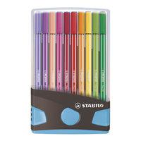 STABILO Pen 68 Colorparade Antraciet/Lichtblauw, 20st.