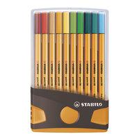 STABILO point 88 Colorparade Antraciet/Oranje, 20st.