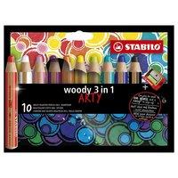 STABILO Woody ARTY Etui - 10 Kleuren + Puntenslijper