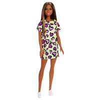 Barbie pop met klassieke outfit - Gele Jurk