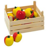 Houten Appels in Kist, 10dlg.