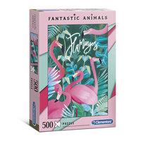 Clementoni Fantastic Animals Puzzel Flamingo's, 500st.