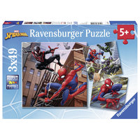 Spiderman Puzzel, 3x49st.