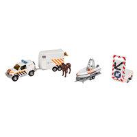 2-Play Politieauto's met Aanhangers en Pijlwagen
