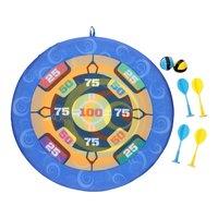 Klittenband Dartbord & Frisbee, 2in1