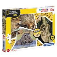 Clementoni National Geographic Puzzel - Wildlife, 104st.