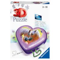 Ravensburger 3D Puzzel - Hartendoosje Paarden