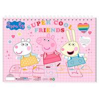 Schetsboek Peppa Pig A4 met Stencils en Stickers