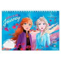 Schetsboek Frozen A4 met Stencils en Stickers