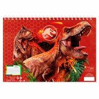Schetsboek Jurassic World A4 met Stencils en Stickers