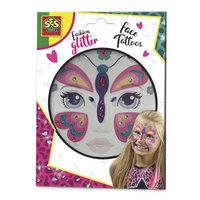 Fashion Glitter Gezicht Tattoos - Vlinder