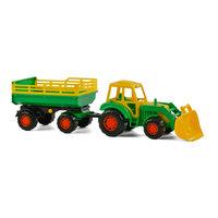 Polesie Tractor met Voorlader en Aanhanger Groen