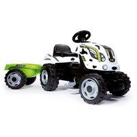 Smoby Tractor met Trailer - Koeienprint