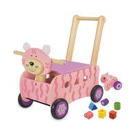 I'm Toy Loop- en Duwwagen Poes Roze met Trekfiguur