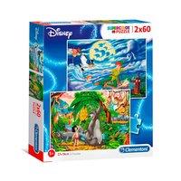 Clementoni Puzzel Peter Pan en Jungle Book, 2x60st.