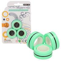 Magnetic Finger Trick Rings, 3st. - Groen