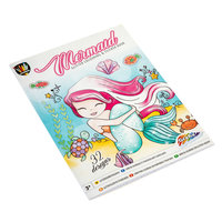 Glitter Kleur- en Stickerboek - Zeemeermin