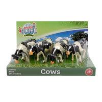 Kids Globe Koeien Zwart/Wit 1:50, 4st.