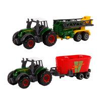 Kids Globe Die-cast Tractor Set, 3dlg. - A