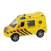 2-Play Die-cast Pull Back Ambulance NL Licht en Geluid