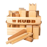 KUBB Vikingsspel in Houten Box