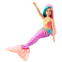 Barbie Dreamtopia Zeemeermin met Roze en Blauw Haar
