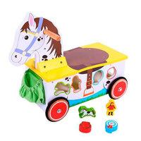 Houten Loop- en Sorteerwagen Paard