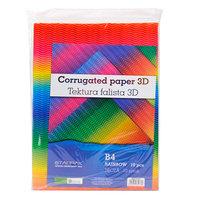 Ribbelkarton 3D Regenboog set van 10
