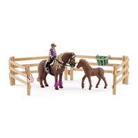 Schleich Ruiter met IJslandse Pony's