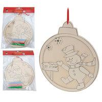 Kleur je eigen Houten Kersthanger, 27cm!